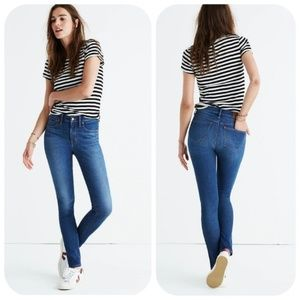 Madewell 9in High Rise Skinny Jeans